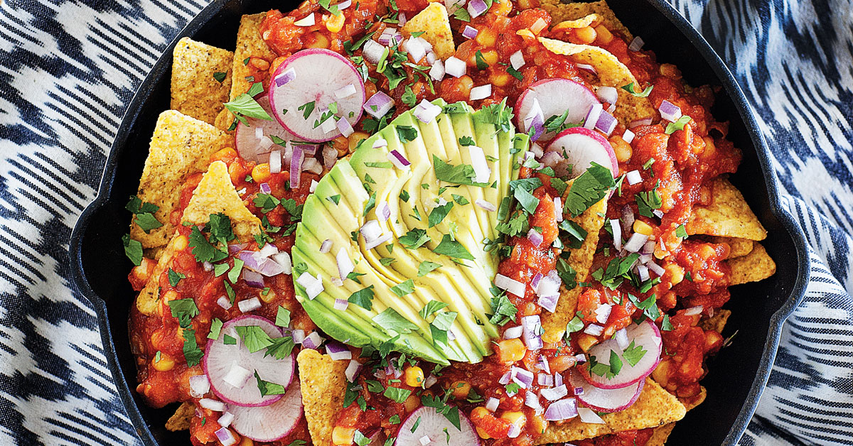 Skillet Chickpea Chilaquiles
